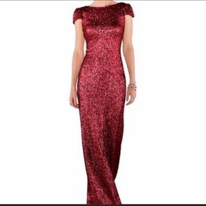 SORELLA VITA Red Sequin Bridesmaid's Gown
